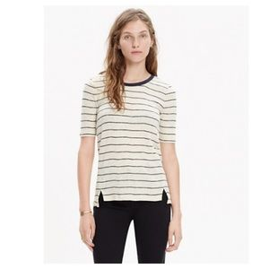 Madewell Sound Check Striped Ringer Tee
